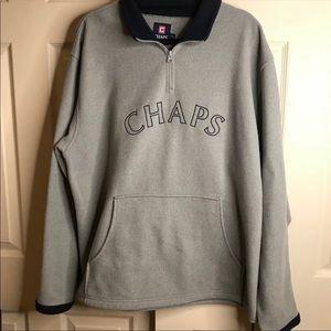 Chaps fleece pullover with zipper size medium GUC